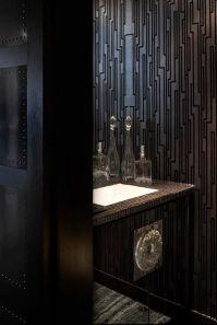 Deborah Oppenheimer Interior Design - bathrooms - black ...