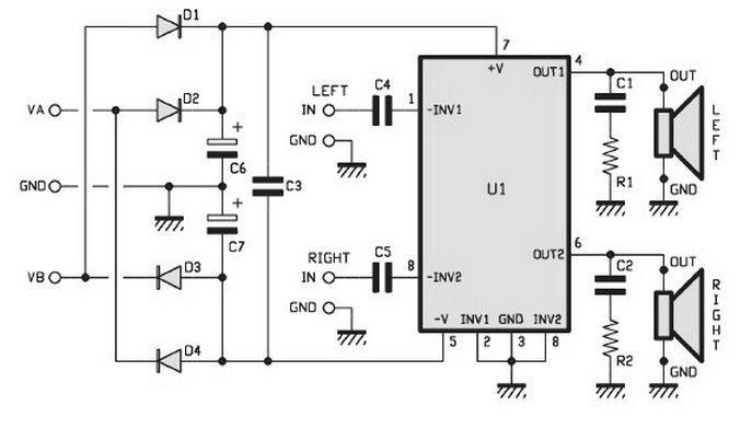 5000 watts amplifier schematic diagram
