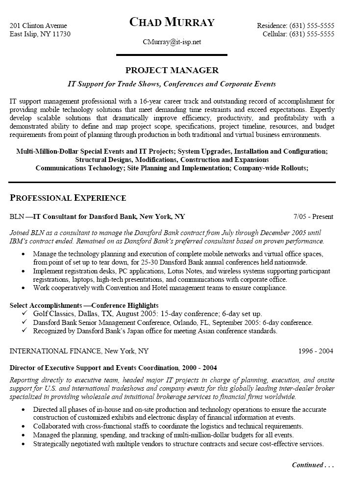 Project Manager Resume Sample Ready For You Uvisor 17 Best Images About Resume Templates And Cv Reference On