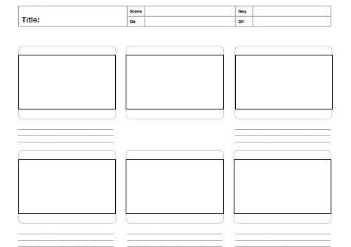 Storyboard Template Pdf Printable Storyboard Templates 12 Best - digital storyboard templates