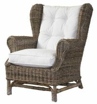 rattan chairs   Wicker Wing Back Chair ~ Kubu Style ...