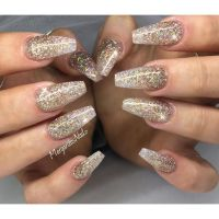 Glitter coffin nails | MargaritasNailz | Pinterest | Queen ...