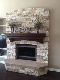 25+ best ideas about Stacked stone fireplaces on Pinterest