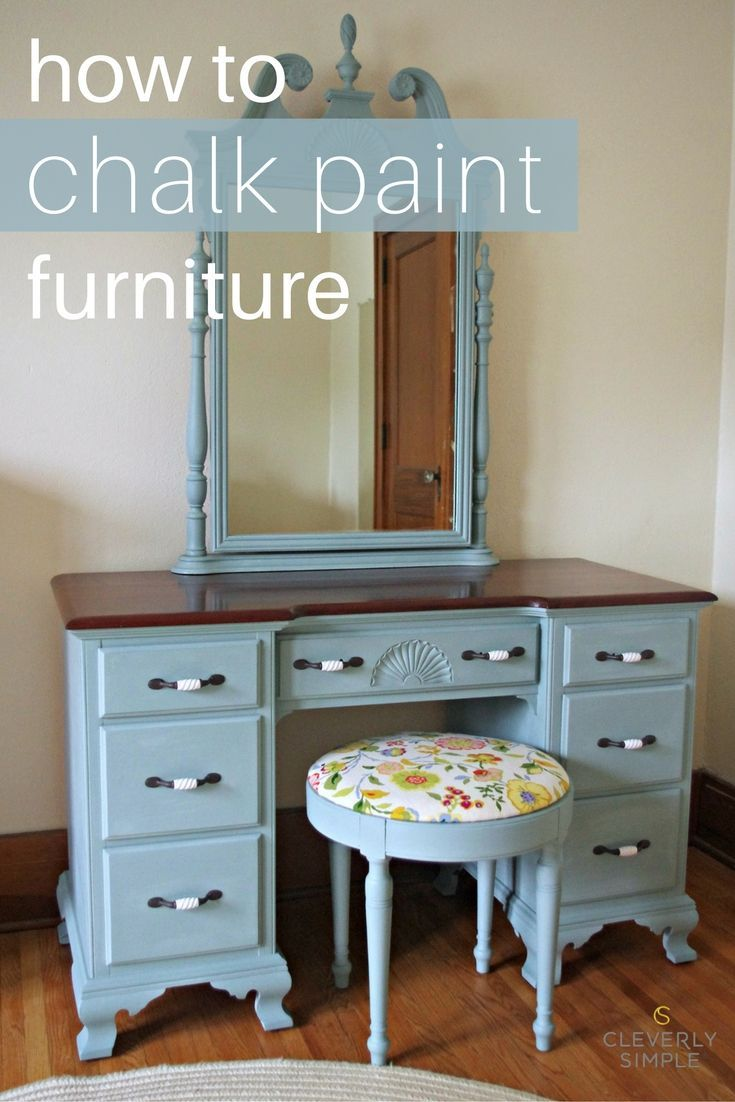 How To Chalk Paint Furniture Chalk Paint Tutorial And