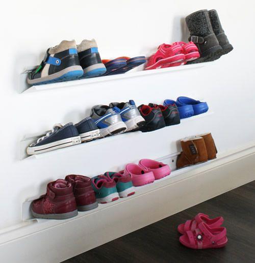 17+ best ideas about Wall Mounted Shoe Rack on Pinterest