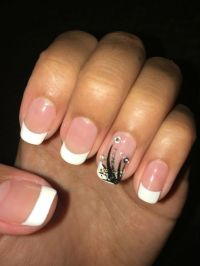 Cute nails, French tip, white tip, shellac, shellac nails ...
