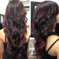Burgundy Brown Hair Color Highlights ...