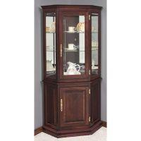 corner+curio+cabinets | Deluxe Corner Curio Cabinet w ...