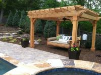 Pergola and swing bed | Outdoor Curtains | Pinterest ...