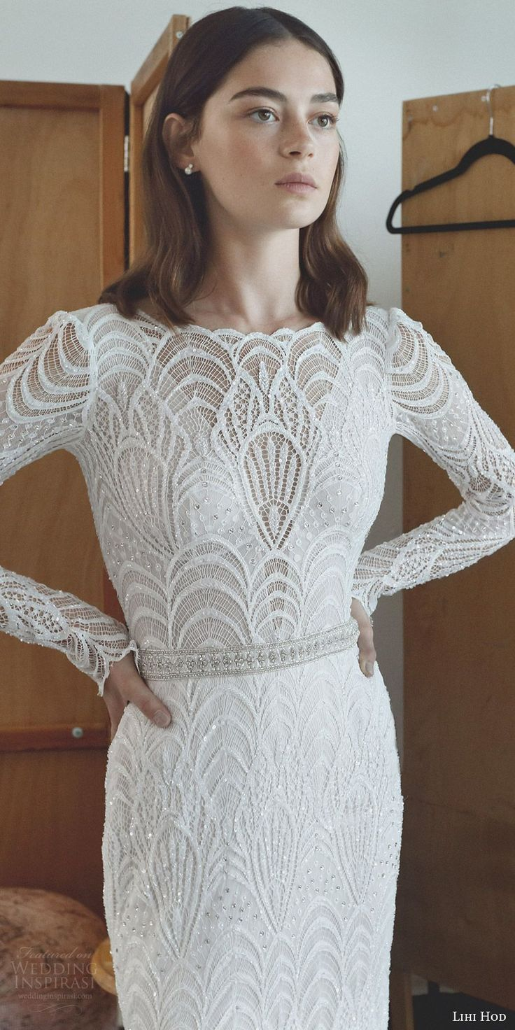 beautiful sleeves wedding dresses with sleeves Lihi Hod Wedding Dresses Maison des R ves Bridal Collection
