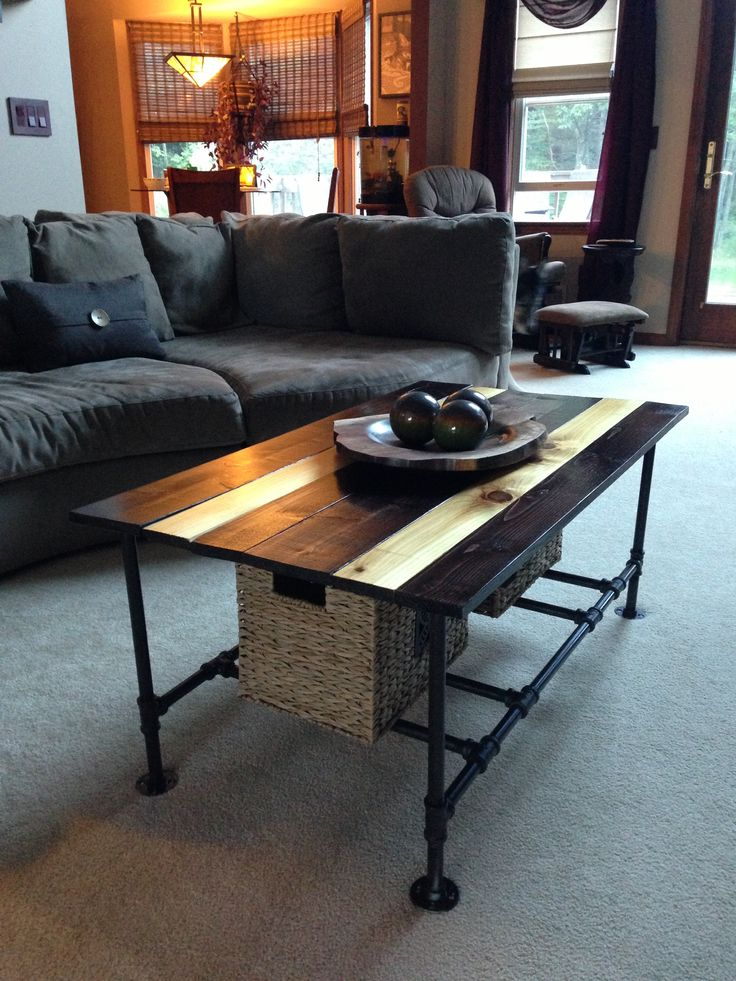 Curved Sofa Diy Plumbing Pipe Coffee Table | For The Home | Pinterest