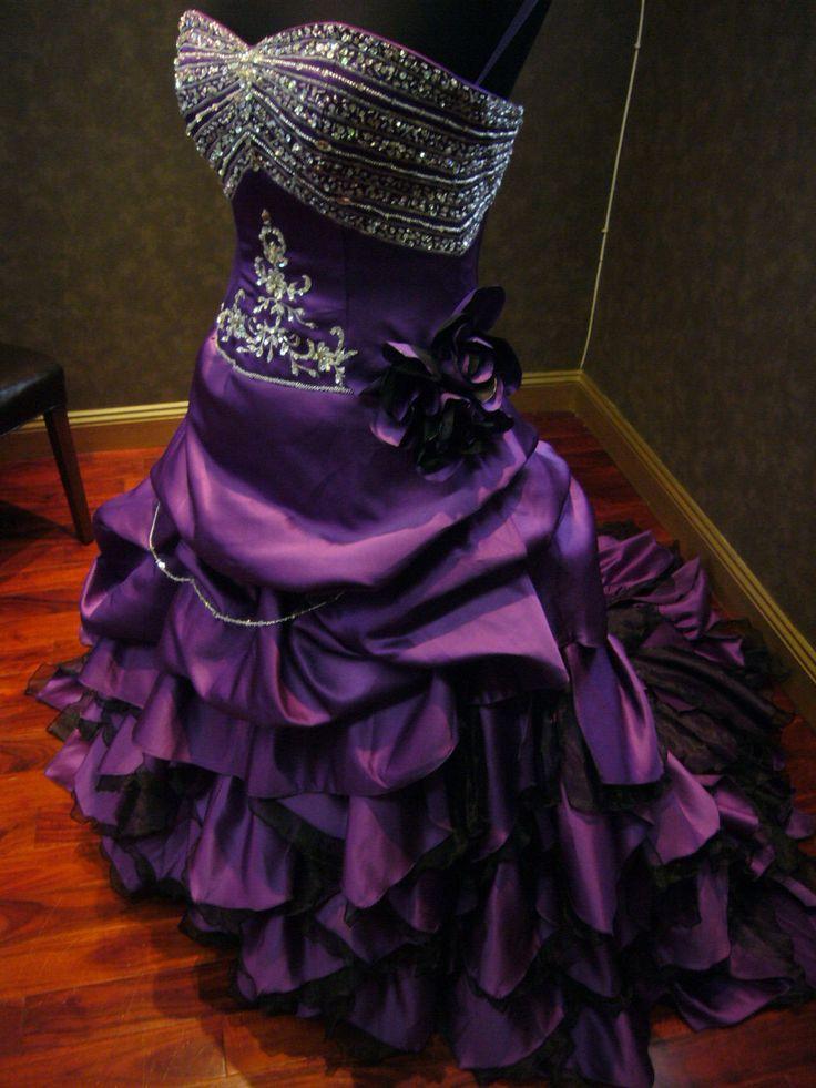 Breathtaking Royal Purple Wedding Dress Alternative