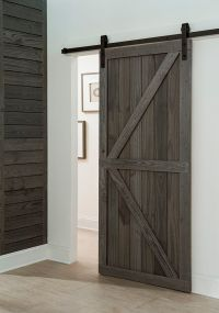 Get a farmhouse look with a barn-style sliding door in ...
