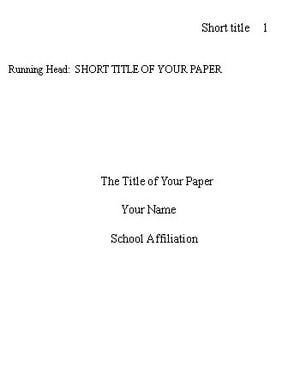 Purdue Owl Apa Formatting And Style Guide 17 Best Ideas About Title Page On Pinterest Banners