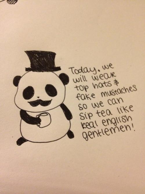 Broken Heart Love Quotes Wallpaper Sad Panda With A Top Hat And A Mustache Sad Panda