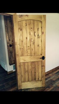 my doors  Knotty pine doors with Minwax Early American ...