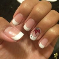Cute nails, shellac, gel, Real nails, french tip, white ...