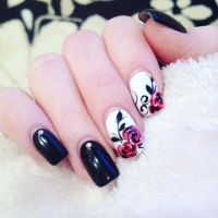 25+ best ideas about Rose nail art on Pinterest   Rose ...