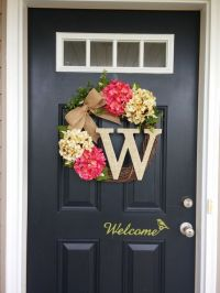Best 25+ Initial door wreaths ideas on Pinterest | Initial ...