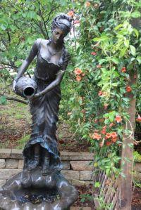Garden Statue Water Fountain | little girl in a flower ...