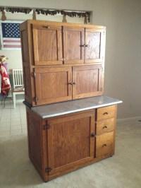 Old Vintage Antique Oak Hoosier Kitchen Cabinet with Flour ...
