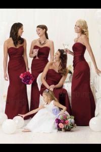 Burgundy bridesmaid dresses -ebay | Trinidad Wedding