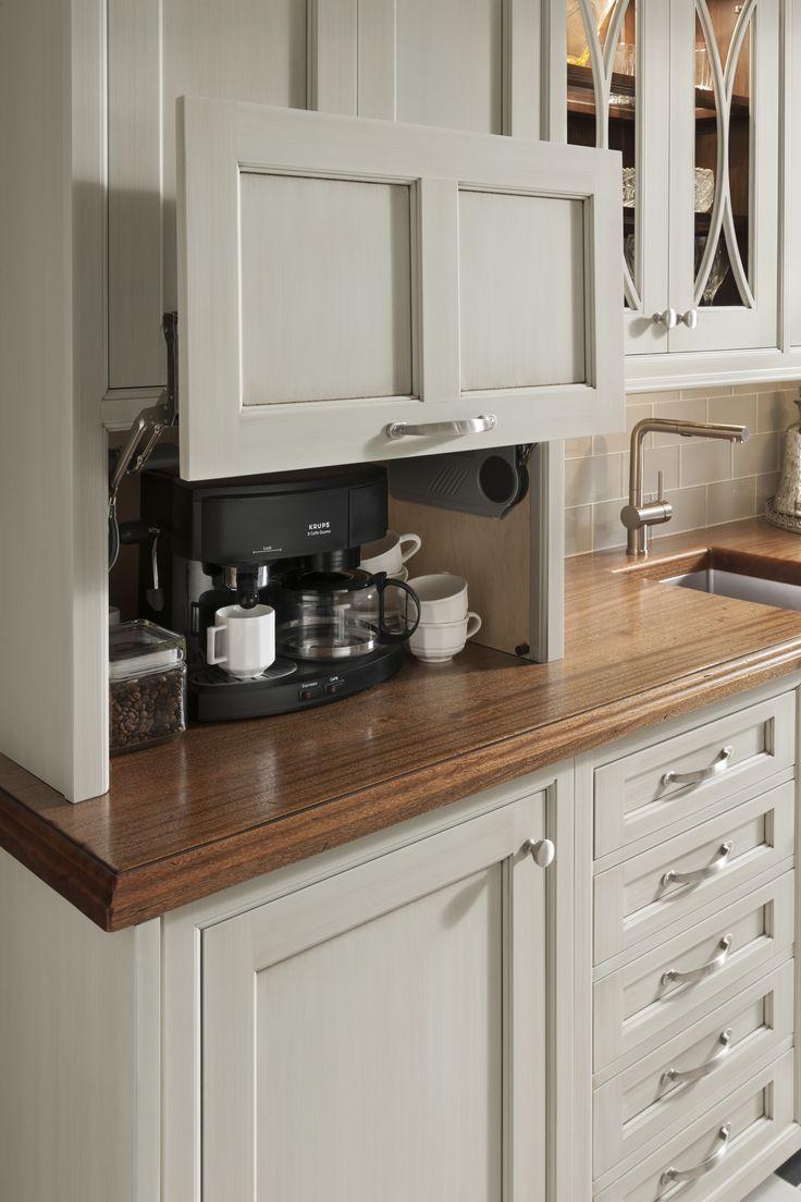 custom kitchen cabinets kitchen cabinet Excelente gabinete para esconder la cafereta u otros electrodom sticos cocinasmado fabricandosinl mites