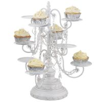 White Chandelier Cupcake Stand | Cupcake stands ...