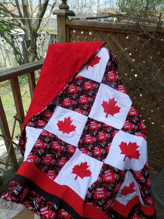 Quilt Blocks Very Cosy Canada Day Quilt By Heatherscabinquilts On Etsy