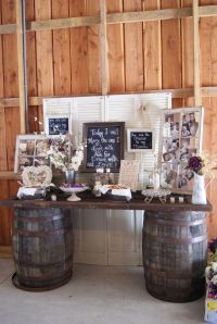 chic rustic wedding bride and groom table decoration ideas ...