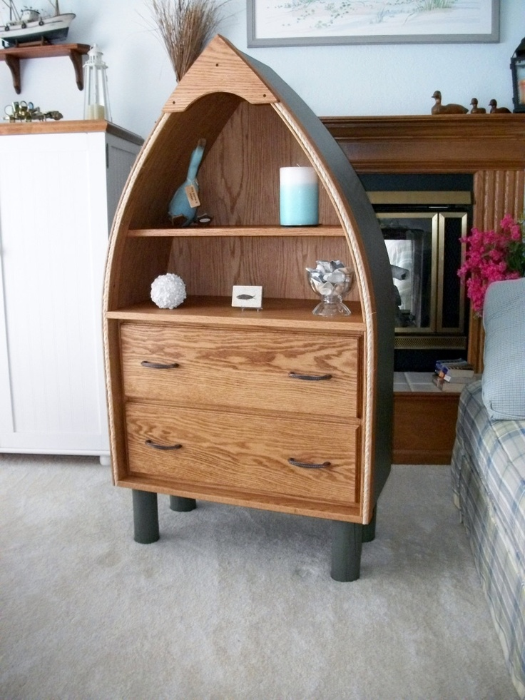Boat Shaped Bookcase Furniture Woodworking Projects Plans