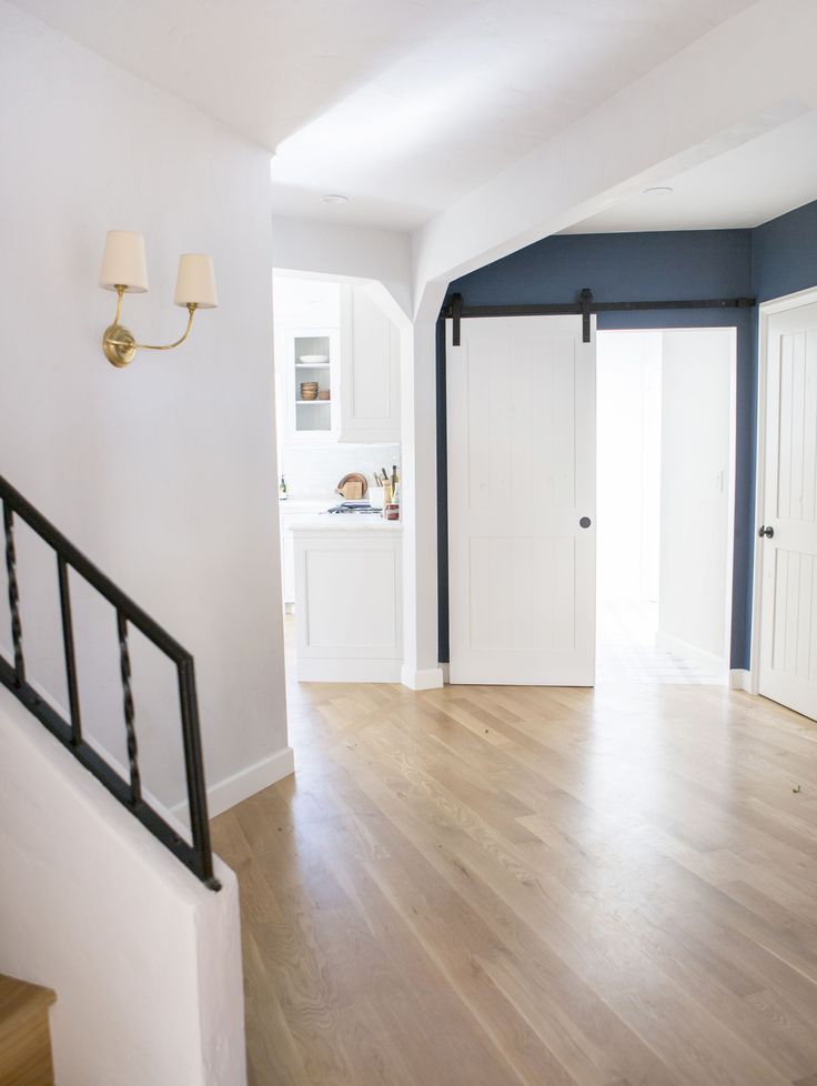 Builddirect Natural Oak Flooring With White Walls - Emily Henderson