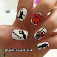12 best images about Basketball nails :) on Pinterest ...