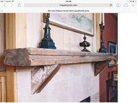 Driftwood mantle | Livingroom ideas | Pinterest | Mantles