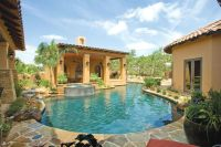 House wrapped around pool. Privacy. | Pool | Pinterest ...
