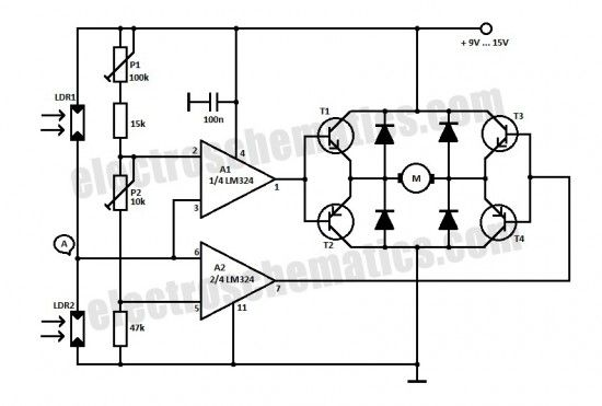 the lm324 quad comparator circuit