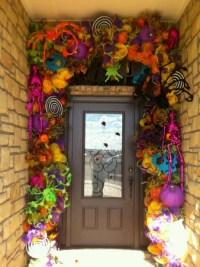 Halloween Door Garland Swag Decoration | Halloween ...