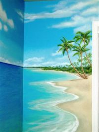 25+ best ideas about Beach mural on Pinterest | How to ...