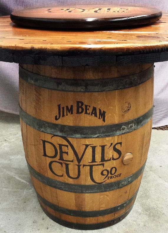 Barrel Grill Customizable Whiskey Barrel Pub Table, Game Table, Poker