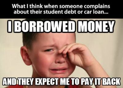 Not paying back money you borrowed is stealing. Stealing is wrong.   Humor   Pinterest   Posts ...