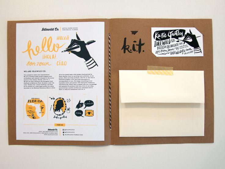 resume in folder or envelope