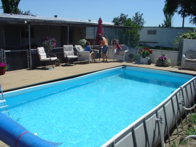Piscina Intex Pvc Decks For Intex Pools | Around An Intex Pool • Above