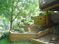 Treated Wood Retaining Wall Design | 6X6 Pressure Treated ...