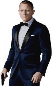 James Bond. Daniel Craig. Midnight Blue Shawl Collar ...