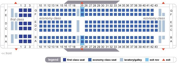 on delta airlines seat maps