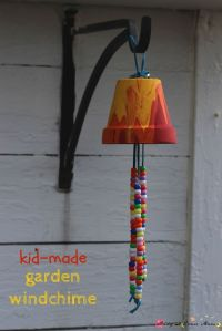 Kid's Craft Ideas: Garden Wind Chimes | Gardens, Homemade ...