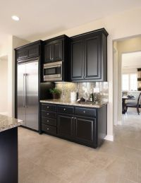 Great Design Black Kitchen Cabinets Complete With Small ...