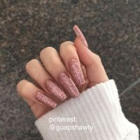 25+ best ideas about Rose gold glitter nails on Pinterest ...