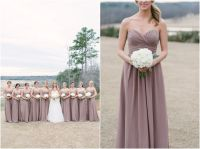 Mauve bridesmaid dresses with white bouquets | Always a ...