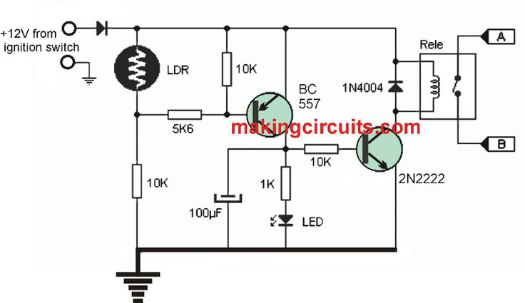 basic automatic day night lamp with ldr